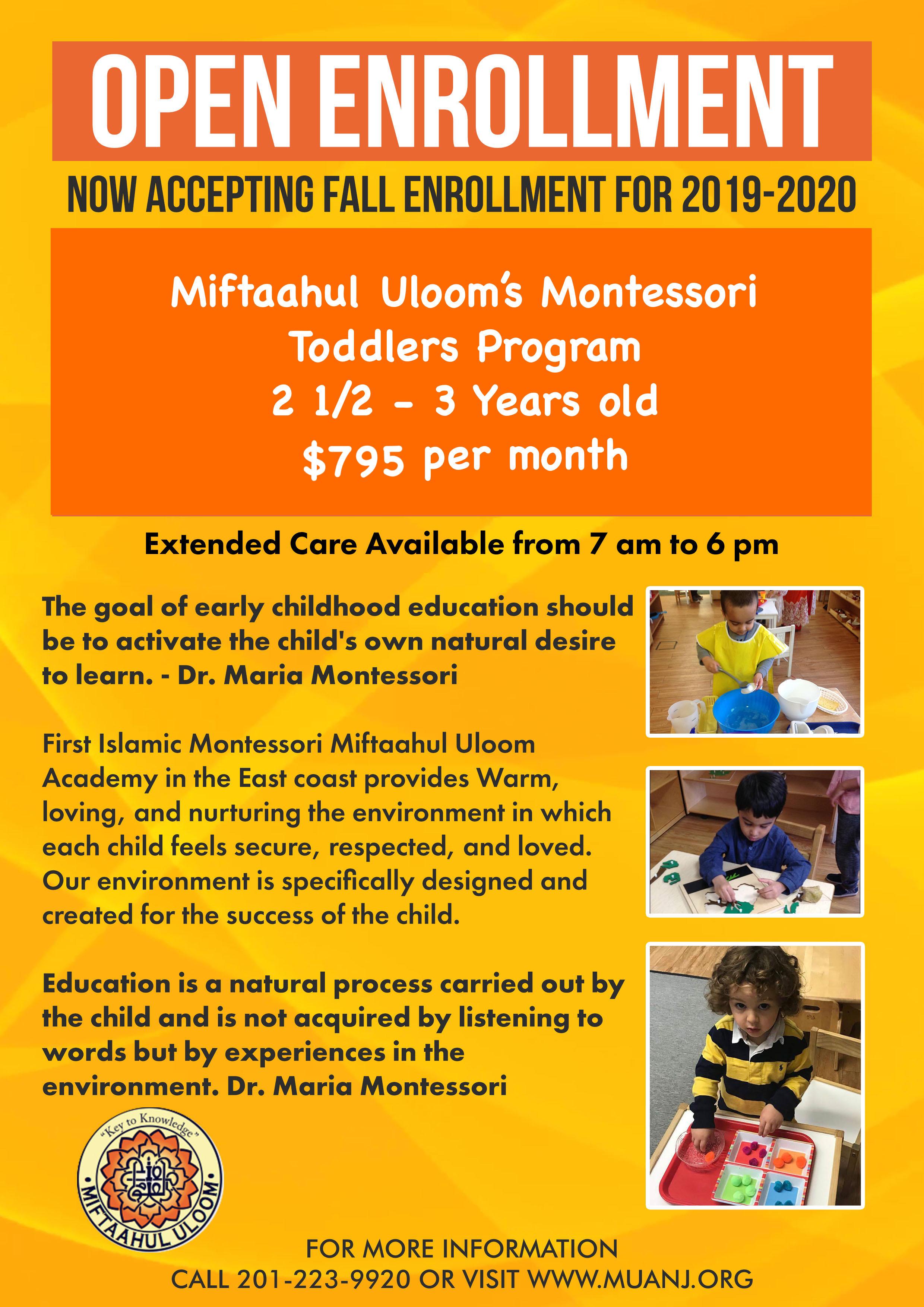 Montessori 2 1/2 -3 Years Old